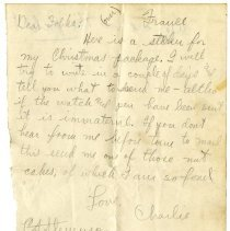Image of 116_1982.202.1_charles Stevenson To Family_october 15, 1918_page 01