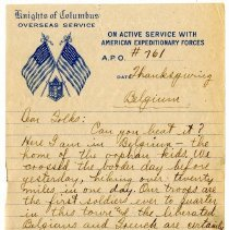 Image of 130_1982.202.1_charles Stevenson To Family_november 30, 1918_page 01