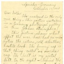 Image of 138_1982.202.1_charles Stevenson To Family_december 17, 1918_page 01