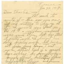 Image of 160_1982.202.1_maurice Stevenson (brother) To Charles Stevenson_january 22,