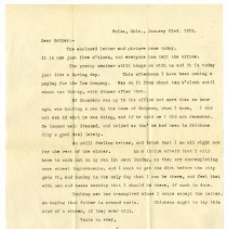 Image of 161_1982.202.1_jay Stevenson To Mother_january 23, 1919_page 01