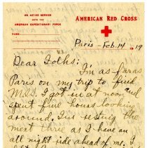Image of 173_1982.202.1_charles Stevenson To Family_february 14, 1919_page 01