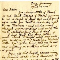 Image of 182_1982.202.1_charles Stevenson To Family_april 17, 1919_page 01