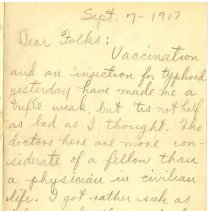 Image of 002_1982.202.1_charles Stevenson To Family_september 7, 1917_page 01