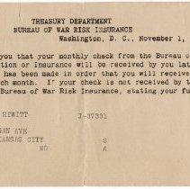 Image of Bureau of War Risk Insurance