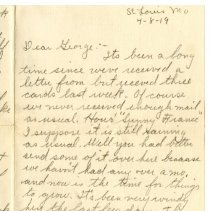 Image of 052_1982.279.35_kate (sister) To George Rehn_april 8, 1919_page 01