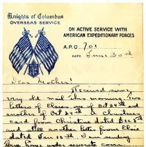 Image of 069_1982.279.35_george Rehn To Mother_june 30, 1919_page 01