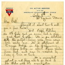 Image of 072_1982.279.35_george Rehn To Father_july 8, 1919_page 01