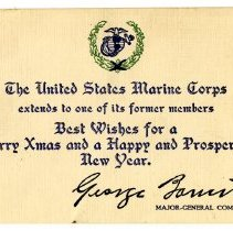 Image of 077_1982.279.35_christmas Card From United States Marine Corps To George Re