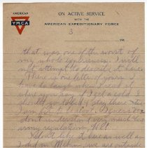 Image of 183_2015.162.4_reid Fields To Parents_march 8, 1919_page 03