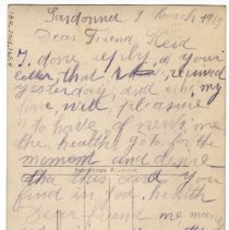 Image of 184_2015.162.4_unknown To Reid Fields_march 9, 1919_page 01
