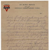 Image of 185_2015.162.4_reid Fields To Clara Wrasse_march 9, 1919_page 03