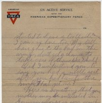 Image of 185_2015.162.4_reid Fields To Clara Wrasse_march 9, 1919_page 05