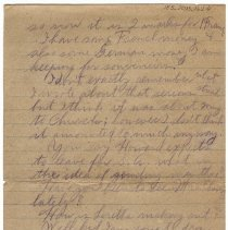 Image of 185_2015.162.4_reid Fields To Clara Wrasse_march 9, 1919_page 06