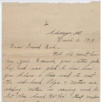 Image of 187_2015.162.4_em To Reid Fields_march 12, 1919_page 01