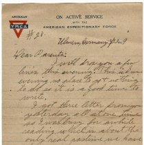 Image of 191_2015.162.4_reid Fields To Parents_march 22, 1919_page 01