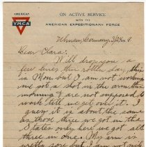 Image of 192_2015.162.4_reid Fields To Clara Wrasse_march 24, 1919_page 01