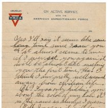 Image of 192_2015.162.4_reid Fields To Clara Wrasse_march 24, 1919_page 03