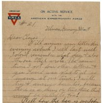 Image of 195_2015.162.4_reid Fields To Clara Wrasse_march 31, 1919_page 01