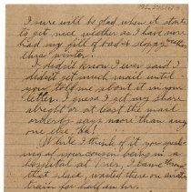 Image of 195_2015.162.4_reid Fields To Clara Wrasse_march 31, 1919_page 02