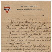 Image of 195_2015.162.4_reid Fields To Clara Wrasse_march 31, 1919_page 03