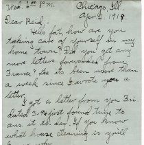 Image of 197_2015.162.4_clara Wrasse To Reid Fields_april 2, 1919_page 01