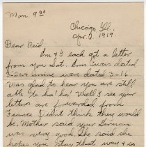 Image of 198_2015.162.4_clara Wrasse To Reid Fields_april 7, 1919_page 01