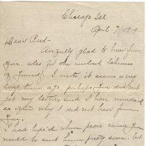 Image of 199_2015.162.4_loretta Truax To Reid Fields_april 7, 1919_page 01