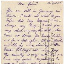 Image of 204_2015.162.4_elisabeth Hochereau To Reid Fields_april 23, 1919