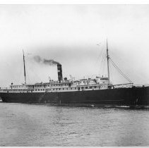 Image of B+W photo of  the S.S. City of St. Louis under steam, no place, near Hoboken?, no date, ca. 1935. - Print, Photographic