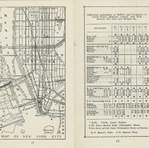 Image of New York City map 1928