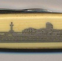 Image of Souvenir pocket knife, S.S. Ryndam, Holland-America Line, no date ca. 1930. - Knife, pocket