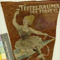 Image of Felt Pennant: Teitelbaum's, Happy New Year, Hoboken, 1914. - Pennant