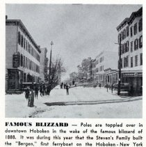 Image of Reference image: View of downtown Hoboken after the Blizzard of 1888, Hoboken, 1888. - Photograph, Illustration