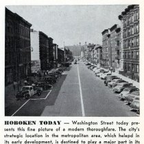 Image of Reference image: Washington Street looking north probably from Ninth Street, Hoboken, no date, ca. 1955. - Photograph, Illustration