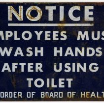 Image of sign from Maxwell House plant