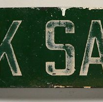 Image of front view, sign from Maxwell House plant