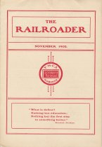 Image of Railroader, The. Vol. XII, No. 10, Nov., 1902. Published by the Rail Road Department, Young Men's Christian Association, Hoboken, N.J. - Periodical