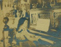 Image of Sepia-tone photos, 2, of Florence Miller at piano, 716 Bloomfield St., Hoboken, n.d., ca. 1898-1905. - Print, Photographic