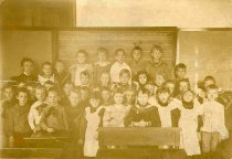 Image of Sepia-tone group photo of Primary Class at the German Academy, Hoboken, N.J., no date, ca. 1890. - Print, Photographic