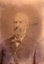 Image of Sepia-tone photo of James Miller, grandfather of Florence & Madeline Miller, Hoboken, no date, ca. 1885 - Photograph, Cabinet