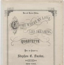Image of Sheet music: Come Where My Love Lies Dreaming by Stephen Foster.. - Music, Sheet