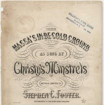 Image of Sheet music: Massa's in De Cold Ground by Stephen Foster. - Music, Sheet