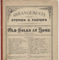 """Image of Sheet music: """"Old Folks At Home."""" [""""Swanee River""""]. Written and composed by Stephen C. Foster. - Music, Sheet"""
