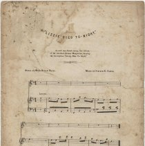 """Image of Sheet music: """"Lizzie Dies To-Night."""" Music by Stephen C. Foster. Words by Mary Bynon Reese. - Music, Sheet"""