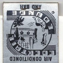 Image of Matchbook from Continental Hotel, 101 Hudson St., Hoboken, N.J., no date, ca. 1950. - Matchbook