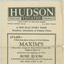 "Image of Program for Hudson Theatre production of ""The Best People"" beginning May 4, 1925, Union City, N.J. 1925. - Program, Theater"