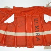 "Image of Life preserver from ferry boat ""Elmira""; last run 11/22/1967. - Life preserver"