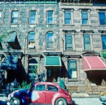 Image of Slides: 41 color transparencies of vehicles; cars or vans, Hoboken, ca. 1983-84. - Transparency, Slide