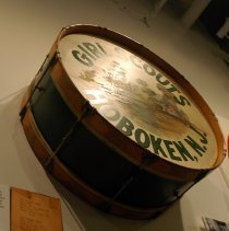 Image of Bass drum from Girls Scouts, Hoboken, N.J., no date, ca. 1925. - Drum